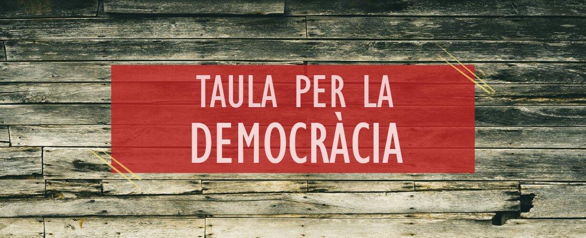 La Taula per la Democràcia convoca concentració dijous 26 d'octubre a les 19h en rebuig a l'article 155