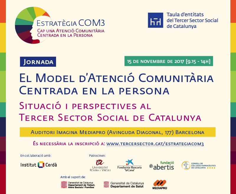 Jornada 'El model d'atenció comunitària centrada en la persona', 15 de novembre