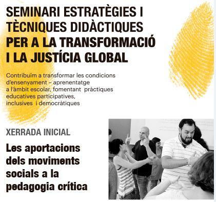 'Les aportacions dels moviments socials a la pedagogia crítica', 21 de novembre