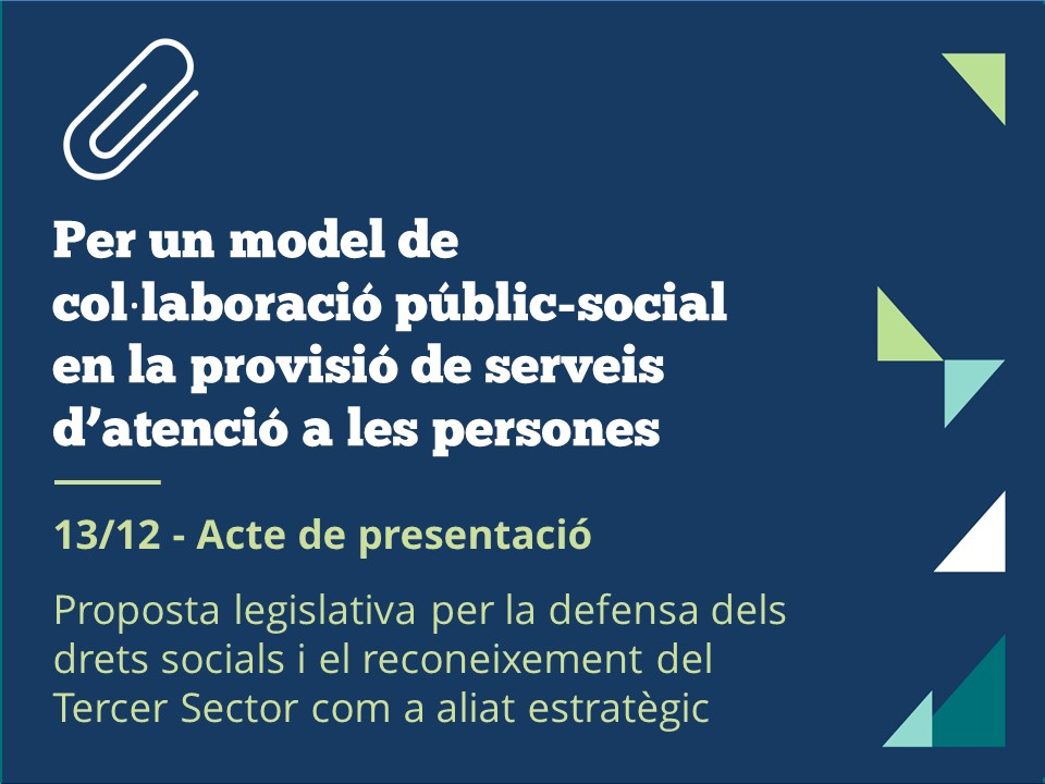 Proposta legislativa de contractació pública de La Confederació, presentació el 13 de desembre