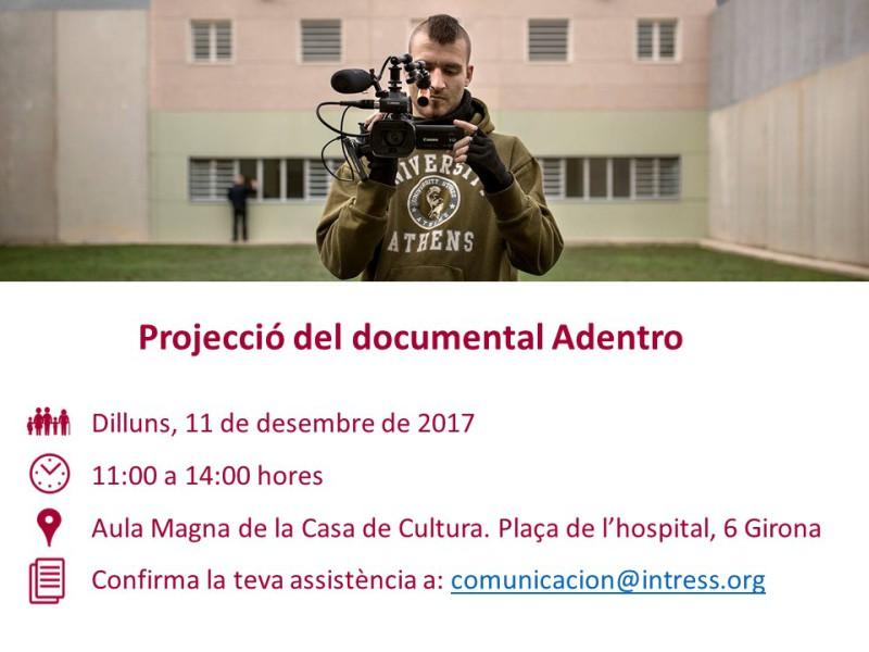 Presentació documental 'Adentro', 11 de desembre