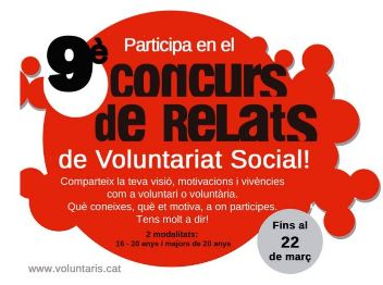 9è Concurs de Relats de Voluntariat Social a Lleida