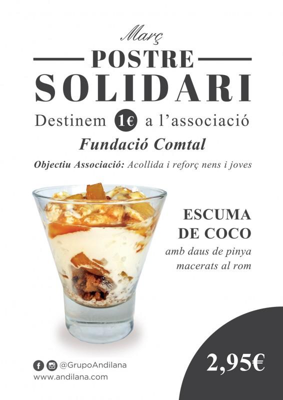 Postres solidàries del Grup Andilana a favor de la Fundació Comtal, març