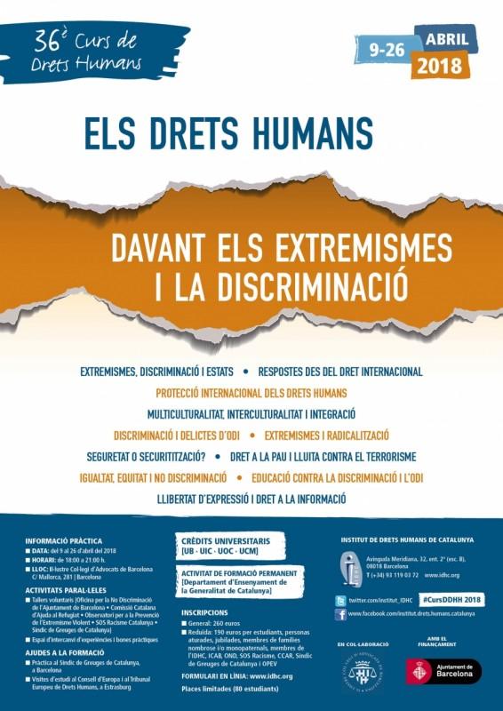 36è Curs Anual de Drets Humans 2018, abril