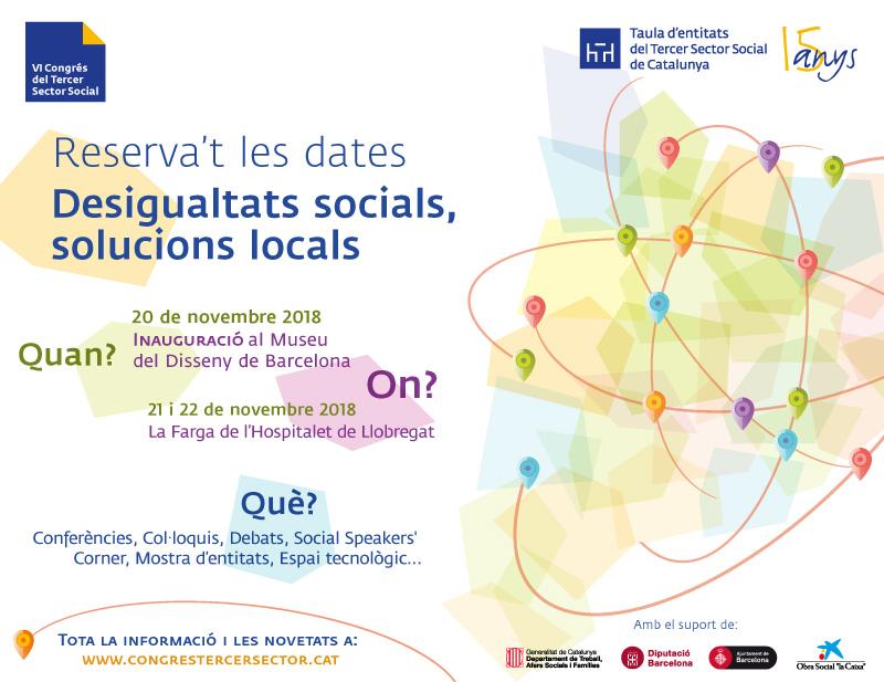 Reserva la data: VI Congrés del tercer sector social, del 20 al 22 de novembre