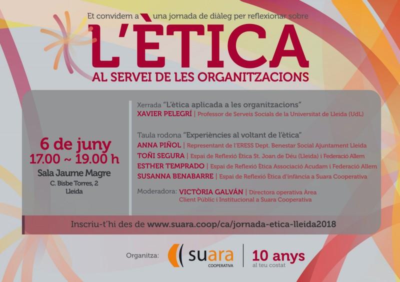Jornada 'L'ètica al servei de les organitzacions' a Girona i Terres de l'Ebre