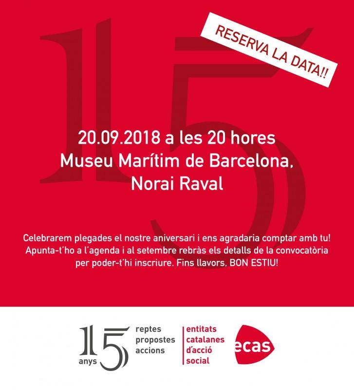 Celebrem els 15 anys d'ECAS el 20 de setembre!