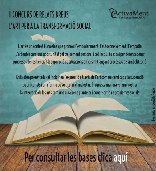 Concurs de Relats Breus 'L'art per a la transformació social' d'ActivaMent
