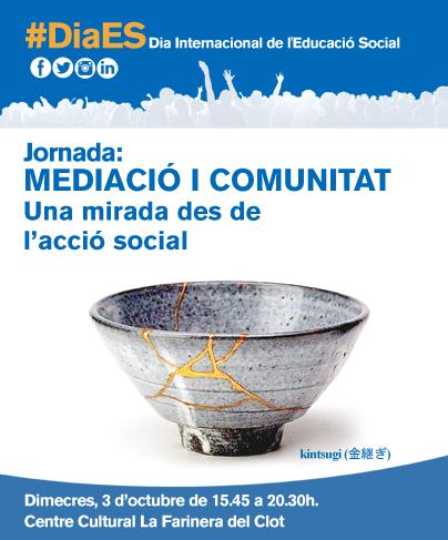 Jornada 'Mediació i comunitat: una mirada des de l'acció social', 3 d'octubre