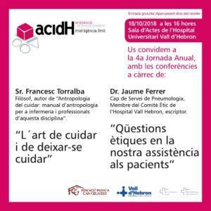 4ª Jornada anual d'acidH, 18 d'octubre