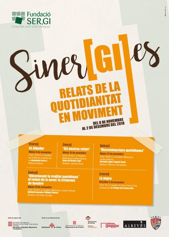 Cicle de sensibilització Siner[GI]es, del 8 de novembre al 2 de desembre