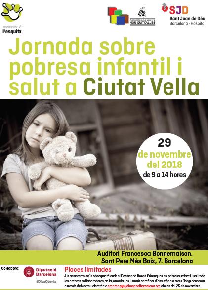Jornada sobre pobresa infantil i salut a Ciutat Vella, 29 de novembre