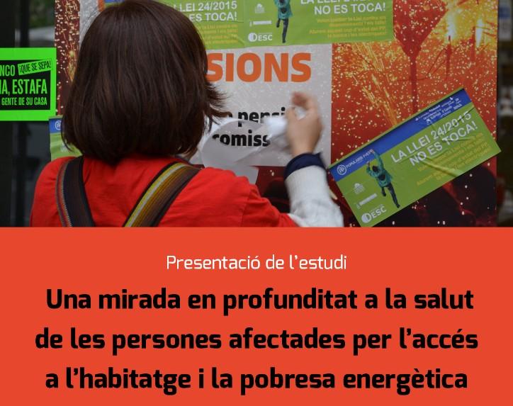 Informe sobre la salut de les persones afectades per l'accés a l'habitatge i la pobresa energètica, 14 de desembre