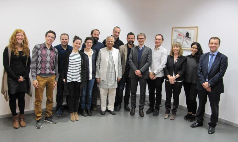 ECAS participa en la trobada amb el Premi Nobel de la Pau Muhammad Yunus