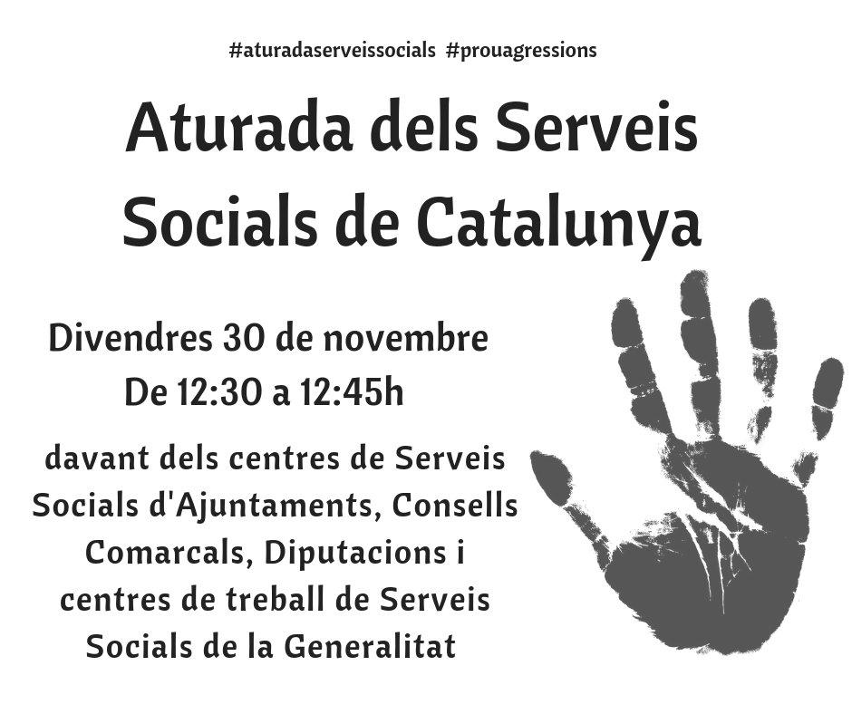 La Taula i la Confederació del Tercer Sector se sumen a les concentracions davant dels Serveis Socials en rebuig a les agressions als professionals del sector