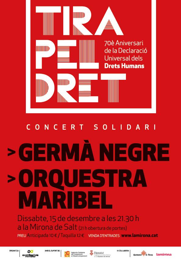 'Tira pel dret!', concert pels Drets Humans a Salt, 15 de desembre