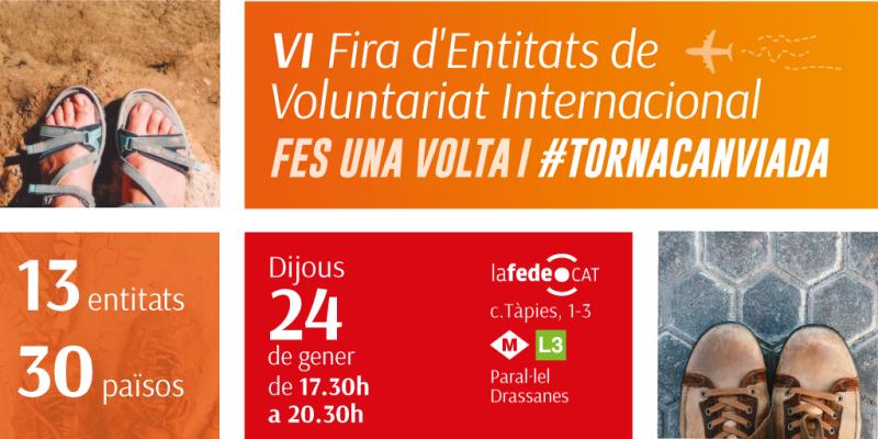 VI Fira d'entitats de Voluntariat Internacional #TornaCanviada, 24 de gener
