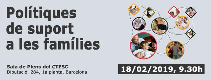 Presentació de l'informe sobre polítiques de suport a famílies, 18 de febrer