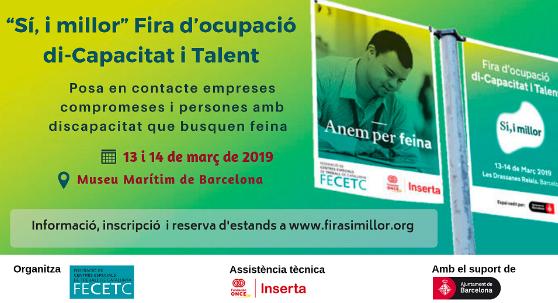 Fira d'ocupació di-Capacitat i Talent, 13 i 14 de març