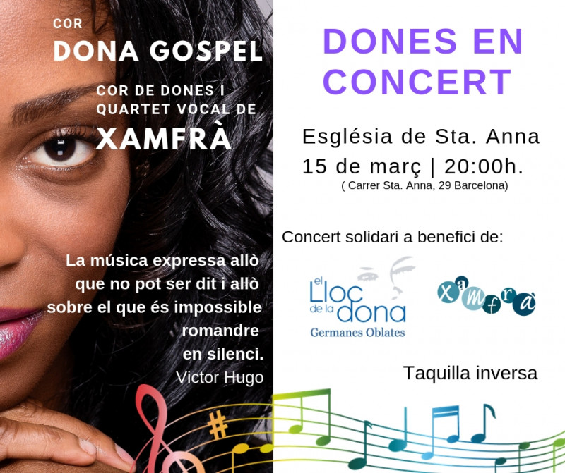 Concert de gospel i exposició per a El Lloc de la Dona