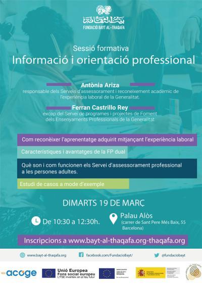 Formació per a orientadors i inseridors laborals, 19 de març