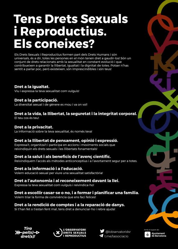 6 de cada 10 persones asseguren no conèixer els seus Drets Sexuals i Reproductius