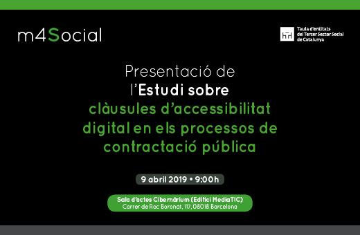 Presentació de l'estudi 'Clàusules d'accessibilitat en els processos de compra pública', 9 d'abril