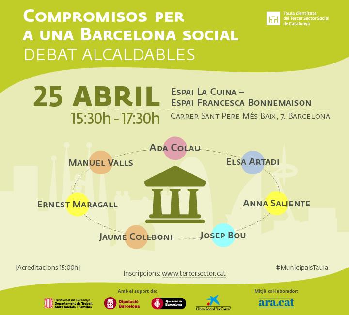 Debat d'alcaldables amb el tercer sector social, 25 d'abril