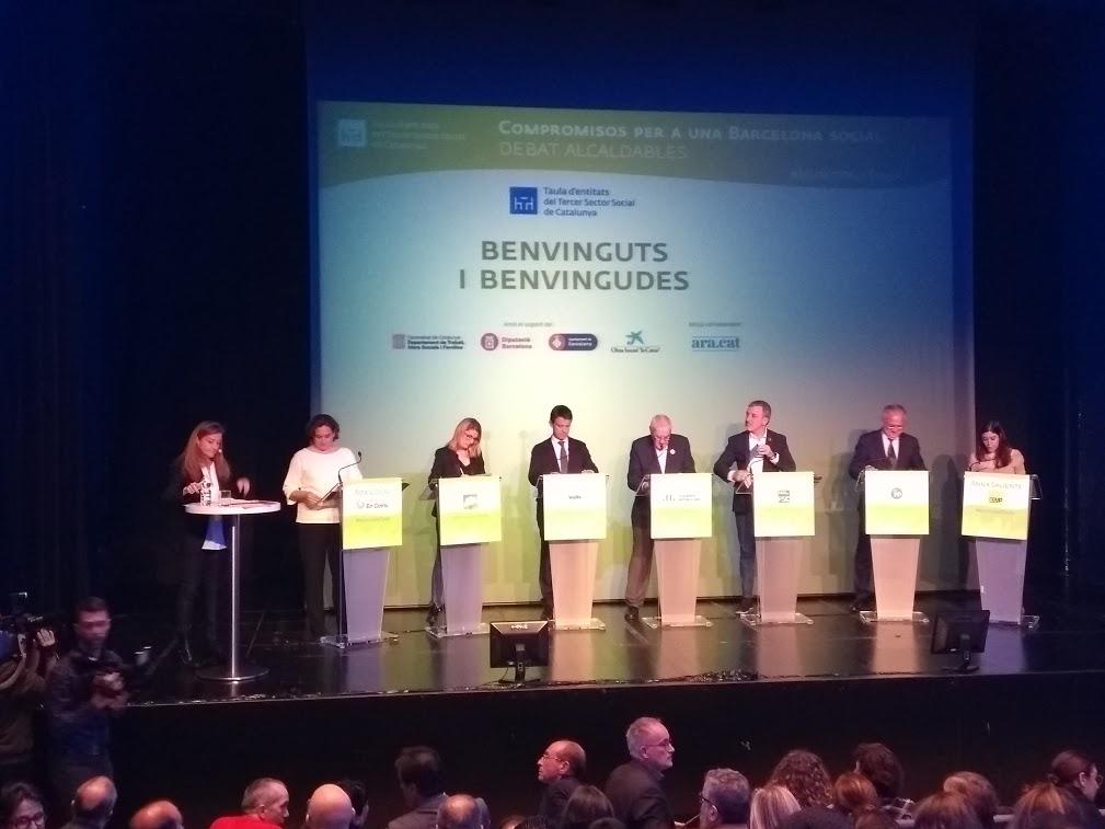 Debat d'alcaldables de Barcelona sobre les prioritats de la Taula del Tercer Sector per a les eleccions municipals