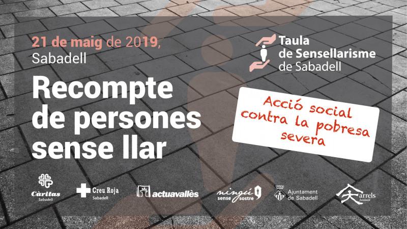 Recompte de persones sense llar a Sabadell, nit del 21 al 22 de maig