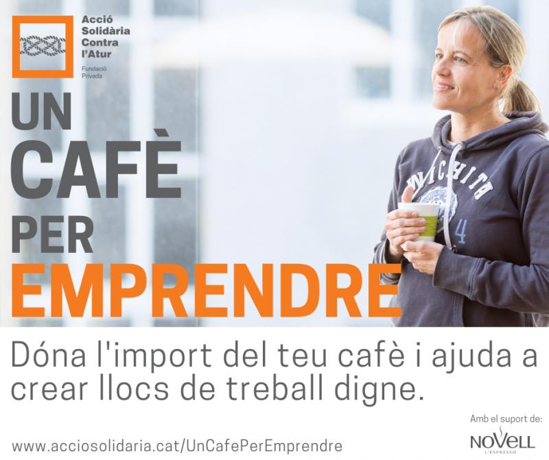 Campanya 'Un cafè per emprendre' per facilitar microcrèdits a projectes d'emprenedoria