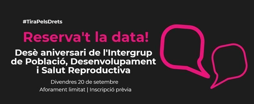 Desè aniversari de l'Intergrup de Població, Desenvolupament i Salut Reproductiva del Parlament, 20 de setembre