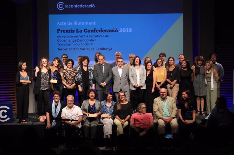La Confederació premia projectes de transformació social d'Ilersis i Eduvic, i projectes de governança democràtica d'ECOM i la Federació de Voluntariat