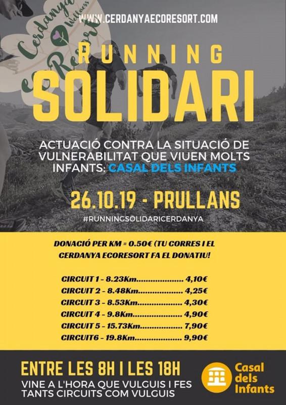Running solidari a Prullans en benefici del Casal dels Infants, 26 d'octubre
