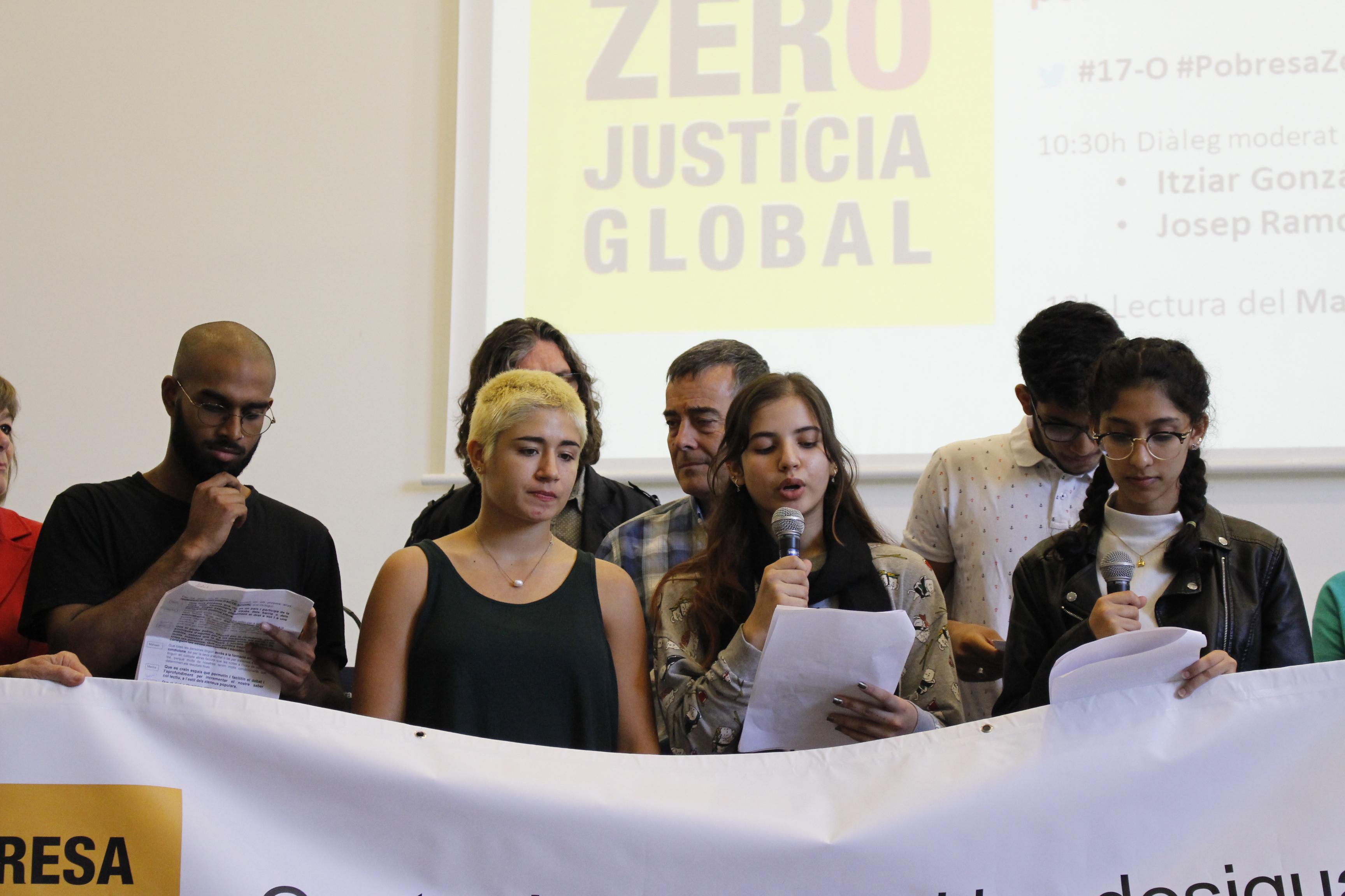 Pobresa Zero – Justícia Global dona veu als joves en la reivindicació d'un nou contracte social per combatre les desigualtats