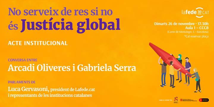 Acte de celebració del 30è aniversari de Lafede.cat, 26 de novembre