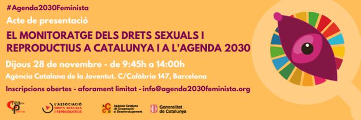 Acte de presentació de l'instrument de monitoratge de l'Agenda 2030 Feminista, 28 de novembre