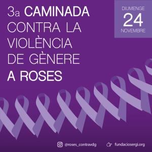 3a caminada contra la violència de gènere a Roses, 24 de novembre