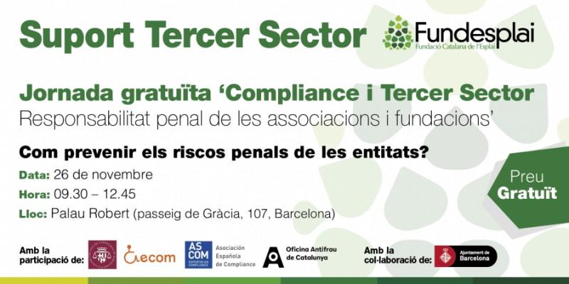 Jornada 'Compliance i tercer sector. Responsabilitat penal de les associacions i fundacions', 26 de novembre