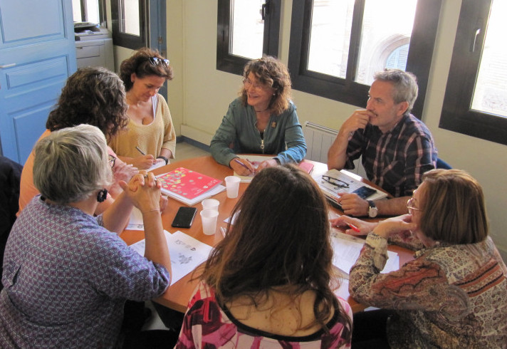 Reunió d'ECAS amb la regidora Montserrat Benedí