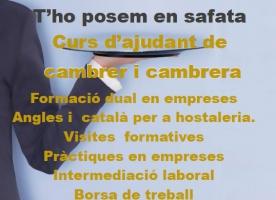 Formació en hostaleria per a joves al Casal dels Infants