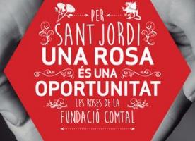#UnaRosaUnaOportunitat, campanya de Sant Jordi de la Fundació Comtal