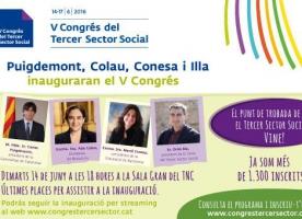 El V Congrés del Tercer Sector arrenca dimarts 14 de juny