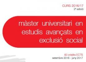 Preinscripció oberta al màster d'Estudis Avançats en Exclusió Social del Campus Docent Sant Joan de Déu