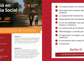 Curs de 'Gestió d'un projecte de mentoria social' amb la Coordinadora de Mentoria Social