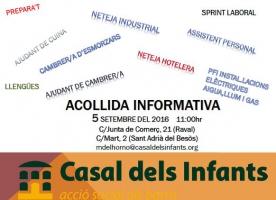 Sessions d'acollida informativa al Casal dels Infants, 5 de setembre