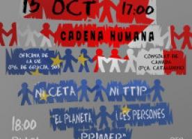 Campanya #niCETAniTTIP del 8 al 15 d'octubre