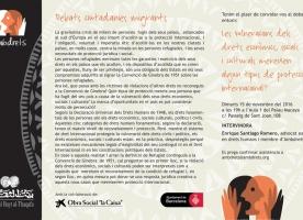 Debat 'Les vulneracions dels drets econòmics, socials i culturals i el tipus de protecció internacional', 15 de novembre