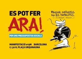 Manifestació 19N #PerUnsPressupostosSocials #EsPotFerAra