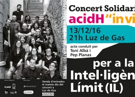 "Concert solidari de Clams per ""in Via"" i AcidH, 13 de desembre"